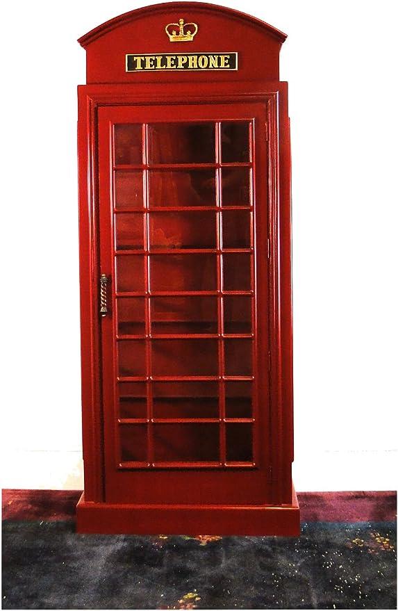 Red British Wood Telephone Phone Box Booth English Replica Like Cast Iron Style