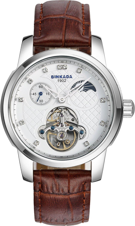 BINKADA自動機械ドレスホワイトダイヤルメンズ腕時計# 800302 – 1 B014WLCI0C