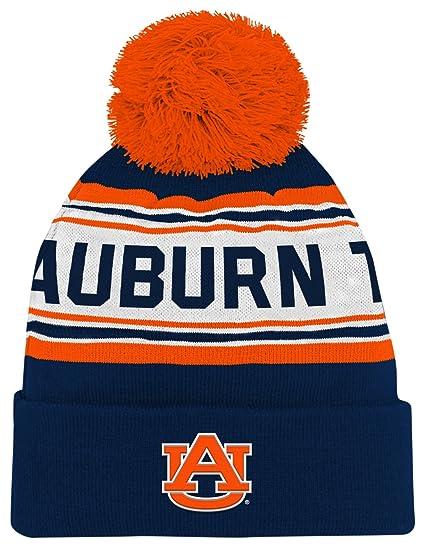 92306d8e833706 NCAA by Outerstuff NCAA Auburn Tigers Toddler Jacquard Cuffed Knit Hat w/  Pom, Dark