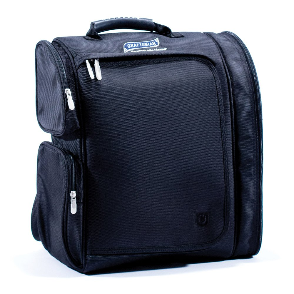 Zuca Makeup Artist Backpack with 2 Vinyl Removable Pouches, 4 Internal Pouches, Thermal Pocket, Mesh Pocket and Straps - Graftobian Professional