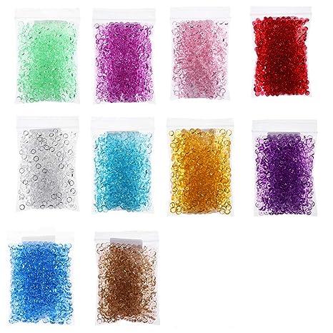 Cuentas de pecera, 10 unidades de colores, perlas de pecera para jarrón de cunchy