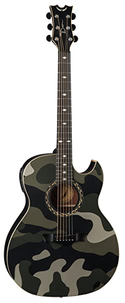 Dean Guitar Exhibition Electro Acoustic With Aphex Camo Finish Amazoncouk Musical Instruments