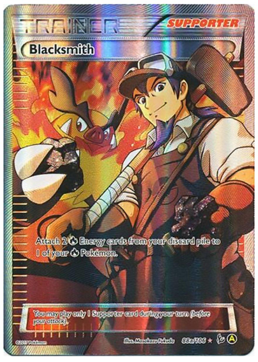 Pokemon Card - Blacksmith Full Art Trainer 88a/106