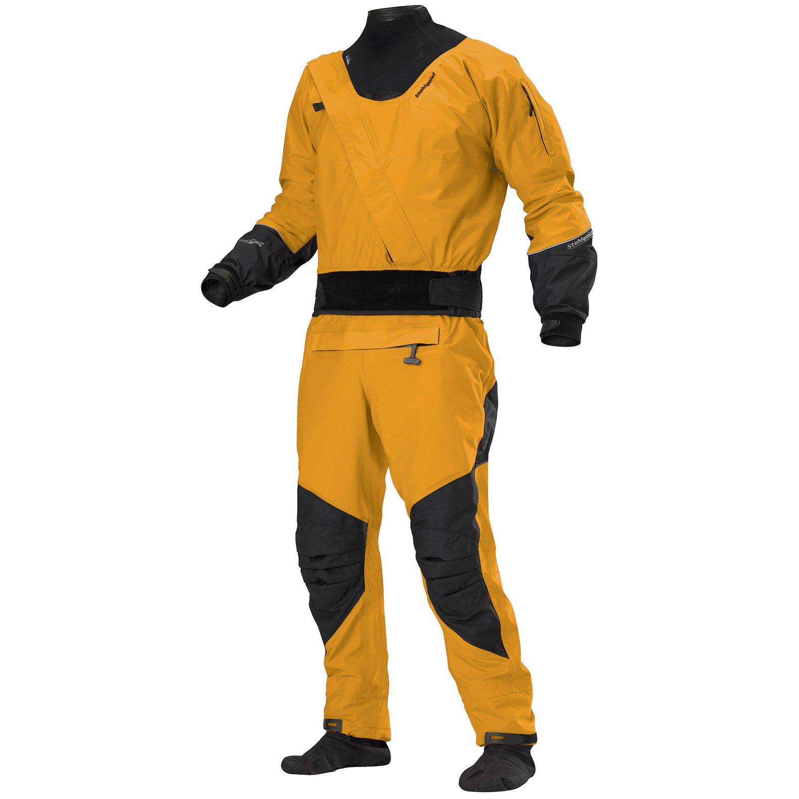 Stohlquist Men's Amp Drysuit-Mango-M