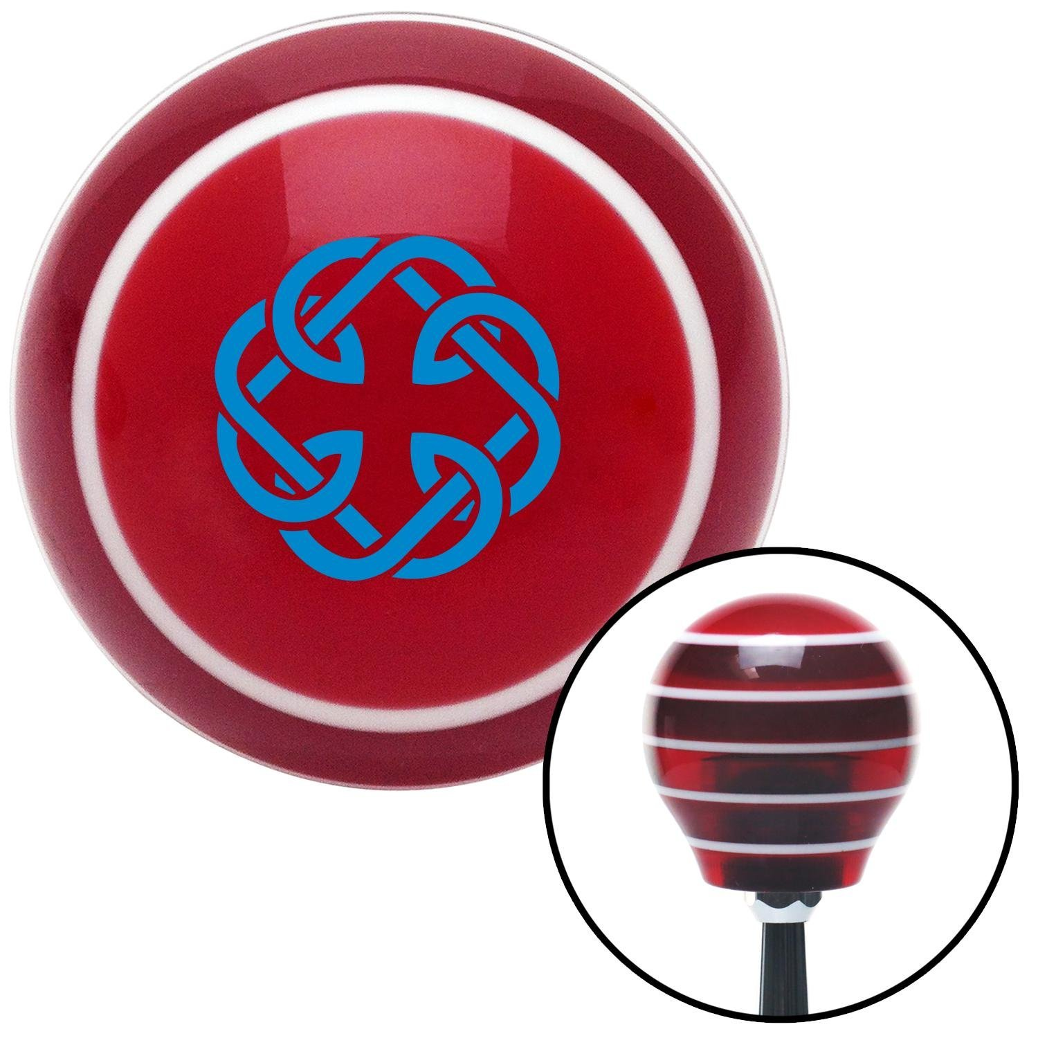 Blue Celtic Father Daughter Symbol American Shifter 119172 Red Stripe Shift Knob with M16 x 1.5 Insert