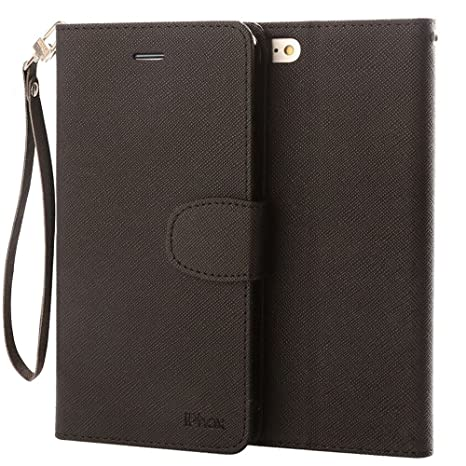 2e091640f0b5 IPHOX Coque iPhone SE   5S Housse,PU Etui en Cuir Portefeuille de  Protection,