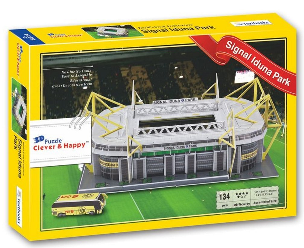 Borussia dortmund signal iduna park 3d football stadium replica borussia dortmund signal iduna park 3d football stadium replica model ground jigsaw puzzle amazon toys games voltagebd Images