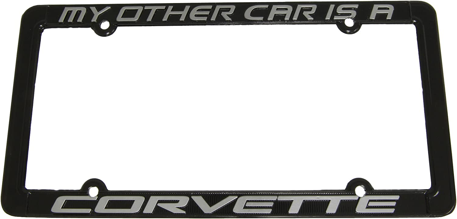 My Other Ride Has Two Wheels Funny Motorcycle Car Black License Plate Frame