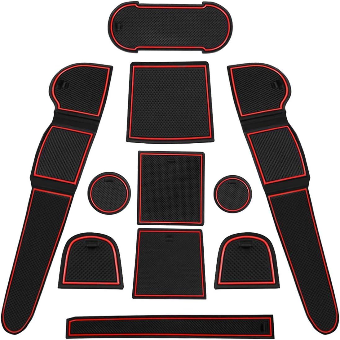 Blanco CDEFG para Hyundai Tucson TL Coche Accesorios Antideslizante Copa Mats Anti Slip Puerta Ranura de Acceso Kit de la Estera del coj/ín de la Ranura decoraci/ón de Interiores