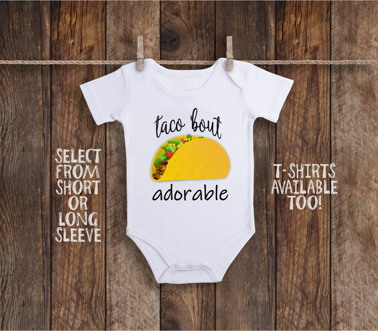 Funny Taco Bout Adorable And About Cute Toddler Kids Tee Shirt or Baby Bodysuit