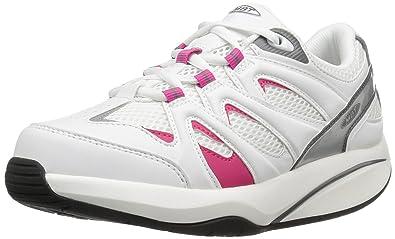 5a68fa28f1eb MBT Women s Sport 2S Walking Shoe, White Pink, 36 EU 5-