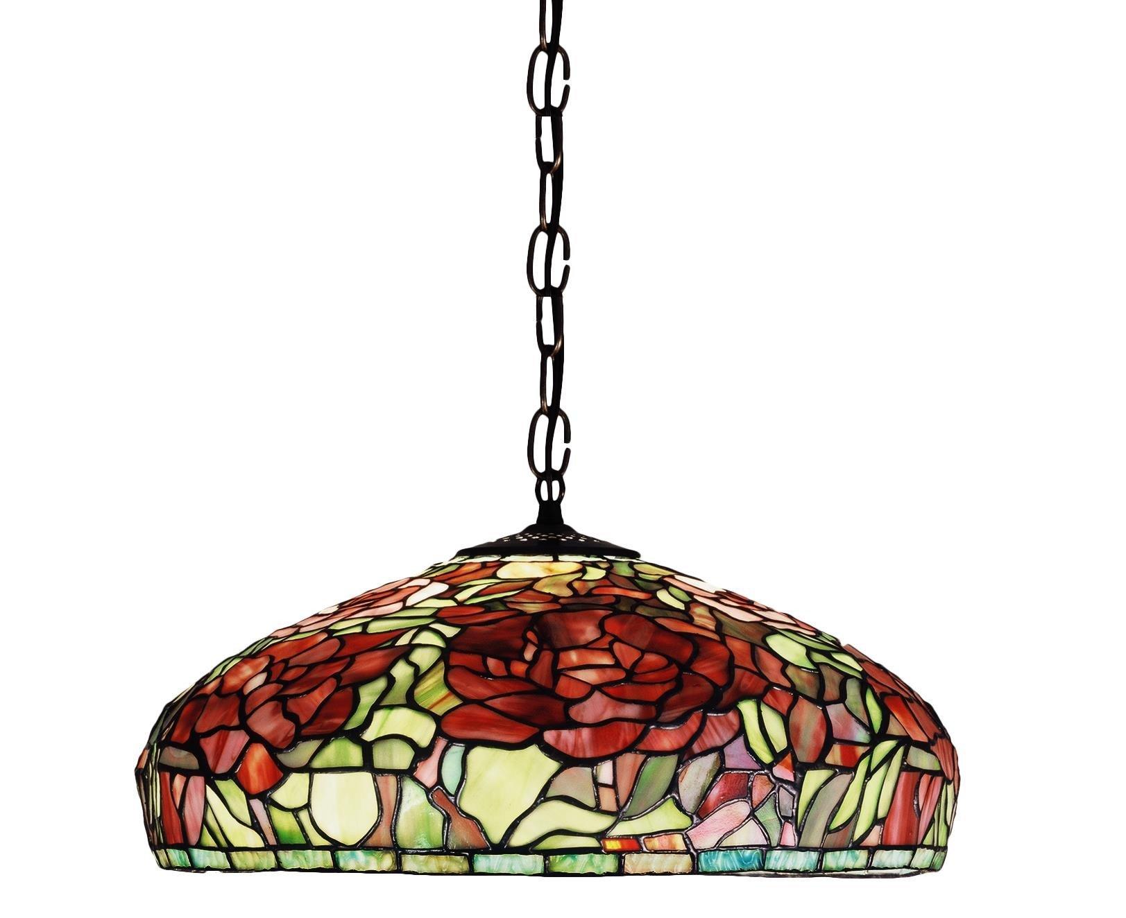 17 Inch W Tiffany Peony Pendant , Ceiling Fixture , Meyda by Meyda
