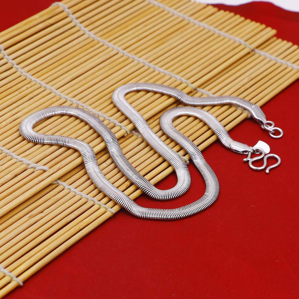 Dankadi New Mens Silver Necklace Creative Serpentine Design Necklace Size 46//51//61//71cm Silver Jewelry Mans Birthday Gift