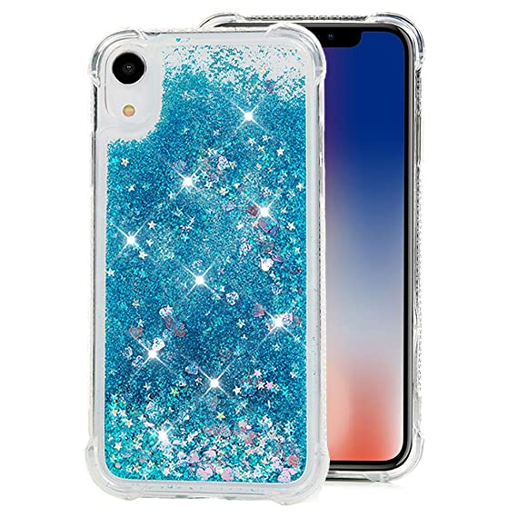 brand new 2cad8 19172 Badalink iPhone Xr 6.1'' Case, Compatible with iPhone Xr Glitter Bling  Sparkly Clear Quicksand Cover Shock Absorption Drop Protection Bumper Soft  TPU ...
