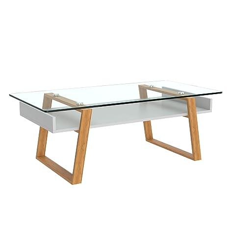 designer side tables for living room. bonVIVO Designer Coffee Table Donatella  Modern For Living Room White Amazon com