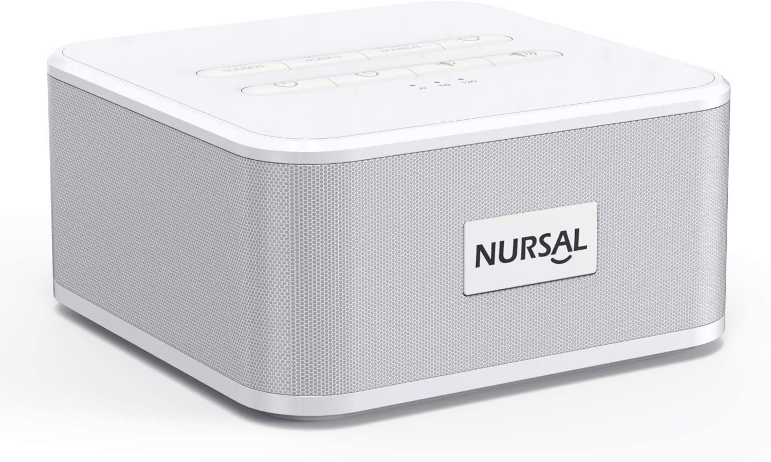 NURSAL White Noise Sound Machine Portable Sleep Therapy with 24 Relaxing Nature Sounds for Baby & Adults, Home, Office, Travel, Auto-Off Timer & Memory Function, Father's Day Gift
