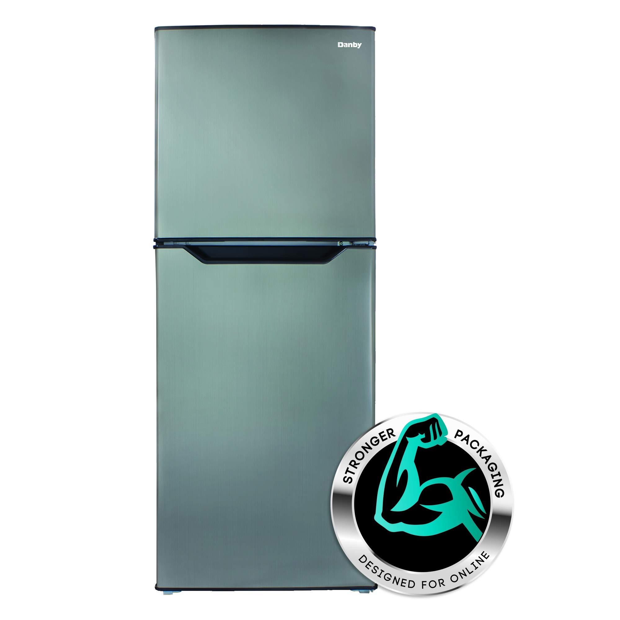 Danby DFF070B1BSLDB-6 7.0 Cubic Foot Mid-Size Refrigerator-Black Stainless Look by Danby