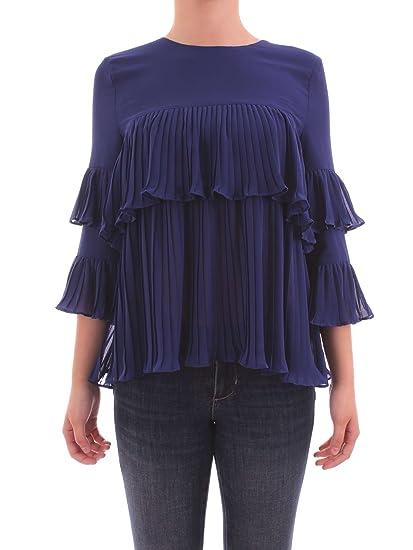 Liu Jo I18107 T1557 Camicia Donna Blu 44: Amazon.it