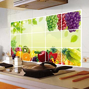 Buy Hlhn Kitchen Oilproof Removable Wallpaper Household Home Wall Sticker Poster Mural Decoration For Bedroom Livingroom Bathroom Kitchen Window Glass Online At Low Prices In India Amazon In