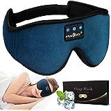 MUSICOZY Sleep Headphones Bluetooth Headband Sleeping Headphones Sleep Mask, Wireless Music Eye Mask Sleep Earbuds for Side S