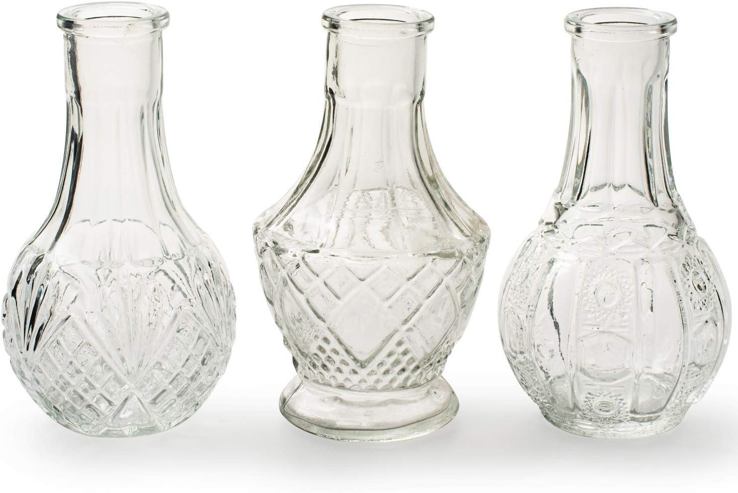 Blumenvase Vase Weiß 6er Set 10 cm