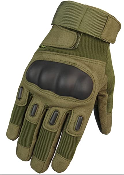 Pair Men Non Slip Motorcycle Tactical Hiking Camping Powersports Knuckle Gloves