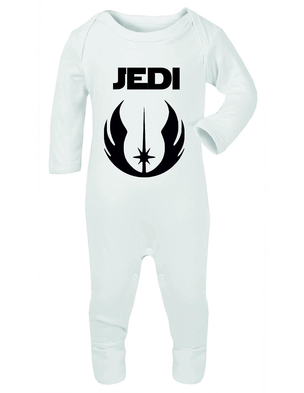 Jedi Baby Rompersuit Bodysuit Vest Babygrow Onesie White (0-3 Months) ICKLE PEANUT