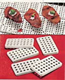 """JUMBL CERAMIC GRILL BRICK SET FOR GAS AND ELECTRIC GRILLS (SET OF 30), BEIGE, 3.5"""""""