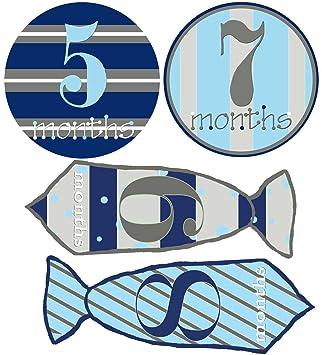 Amazon.com: Baby Boy pegatinas mensuales Baby 1 – 12 meses ...