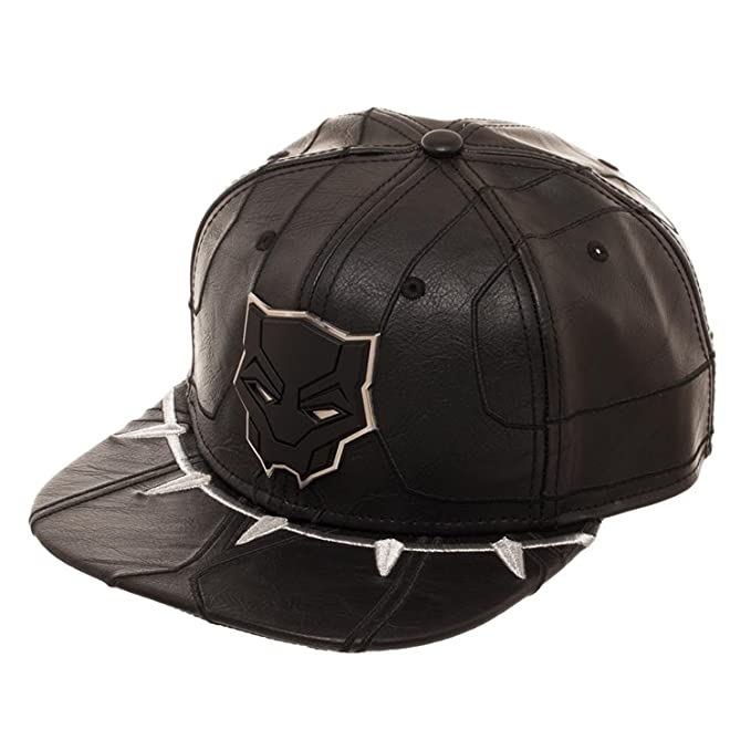 MARVEL Black Panther Suit Up Faux Leather Snapback Hat  Amazon.ca  Clothing    Accessories 4819d6c92cc2