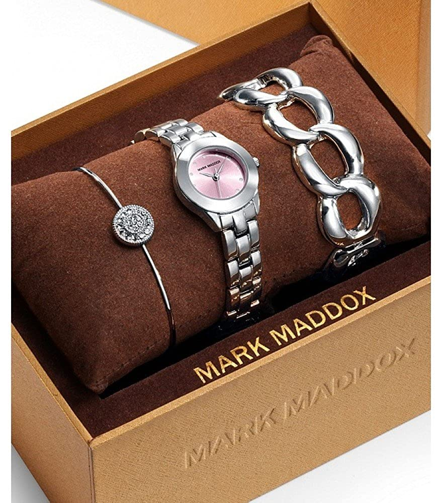 Amazon.com: RELOJ MARK MADDOX MF0008-77 MUJER + 2 PULSERAS REGALO: Watches