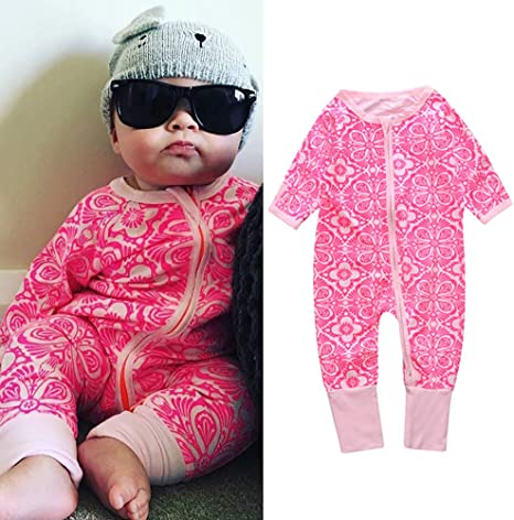 Marsherun Infant Babys Boys and Girls Happy Halloweed Long Sleeve Bodysuit Playsuits