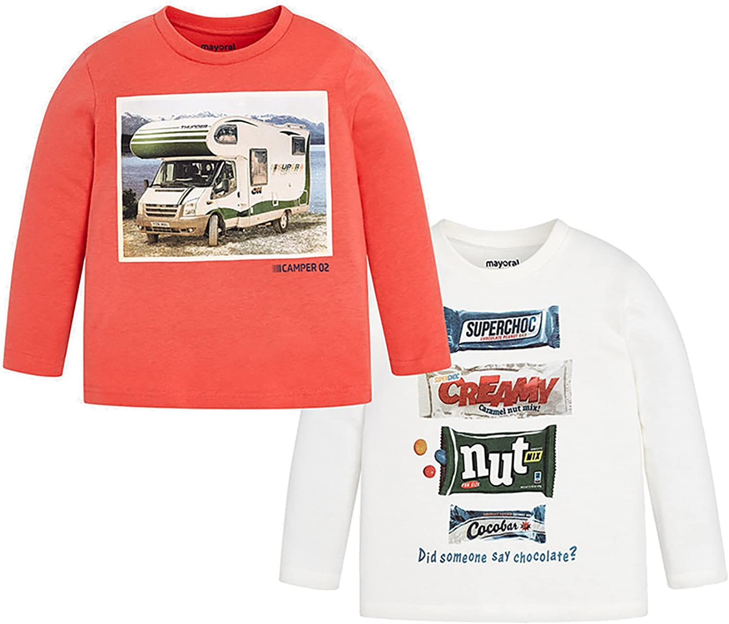 2 l//s t-Shirts Set for Boys Apricot Mayoral 4032