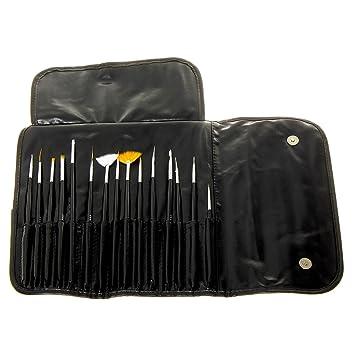 Amazon Mash Professional 15 Piece Nail Art Brush Kit Set