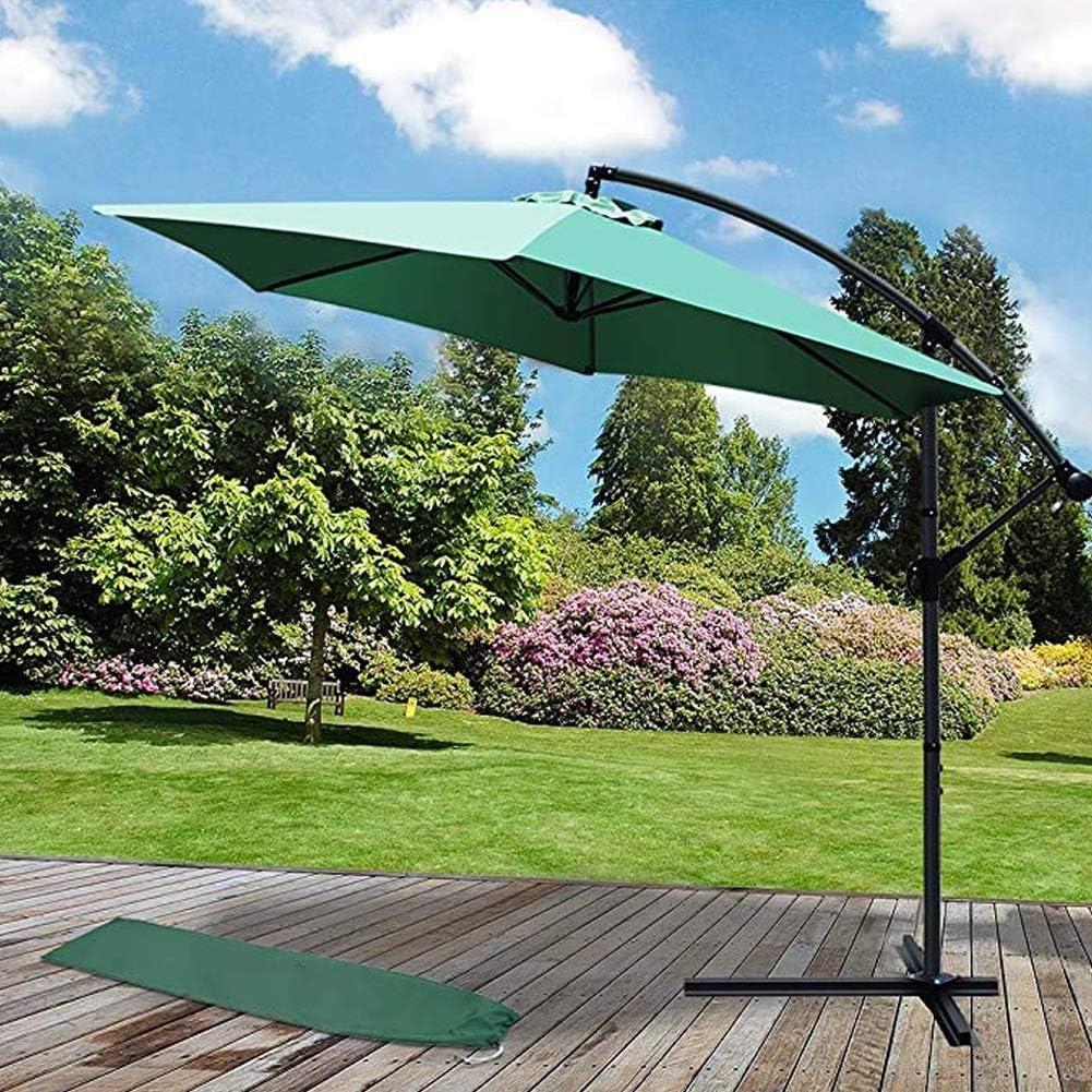 Winter Sombrillas al Aire Libre, sombrillas para Patio, mesas de Mercado, con botón de inclinación y manivela, para Jardines, céspedes, terrazas, Patios Traseros y Piscinas