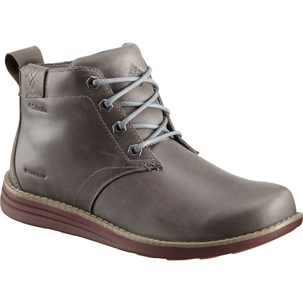 Columbia Herren Irvington Ii Chukka LTR WP Boots Grau (Dark Fog  Madder Brown 078)