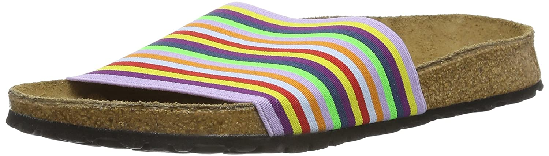 Birki'S Belau Stretch 230073 Damen Clogs & Pantoletten,Mehrfarbig (rainbow Stripes),Eu 40