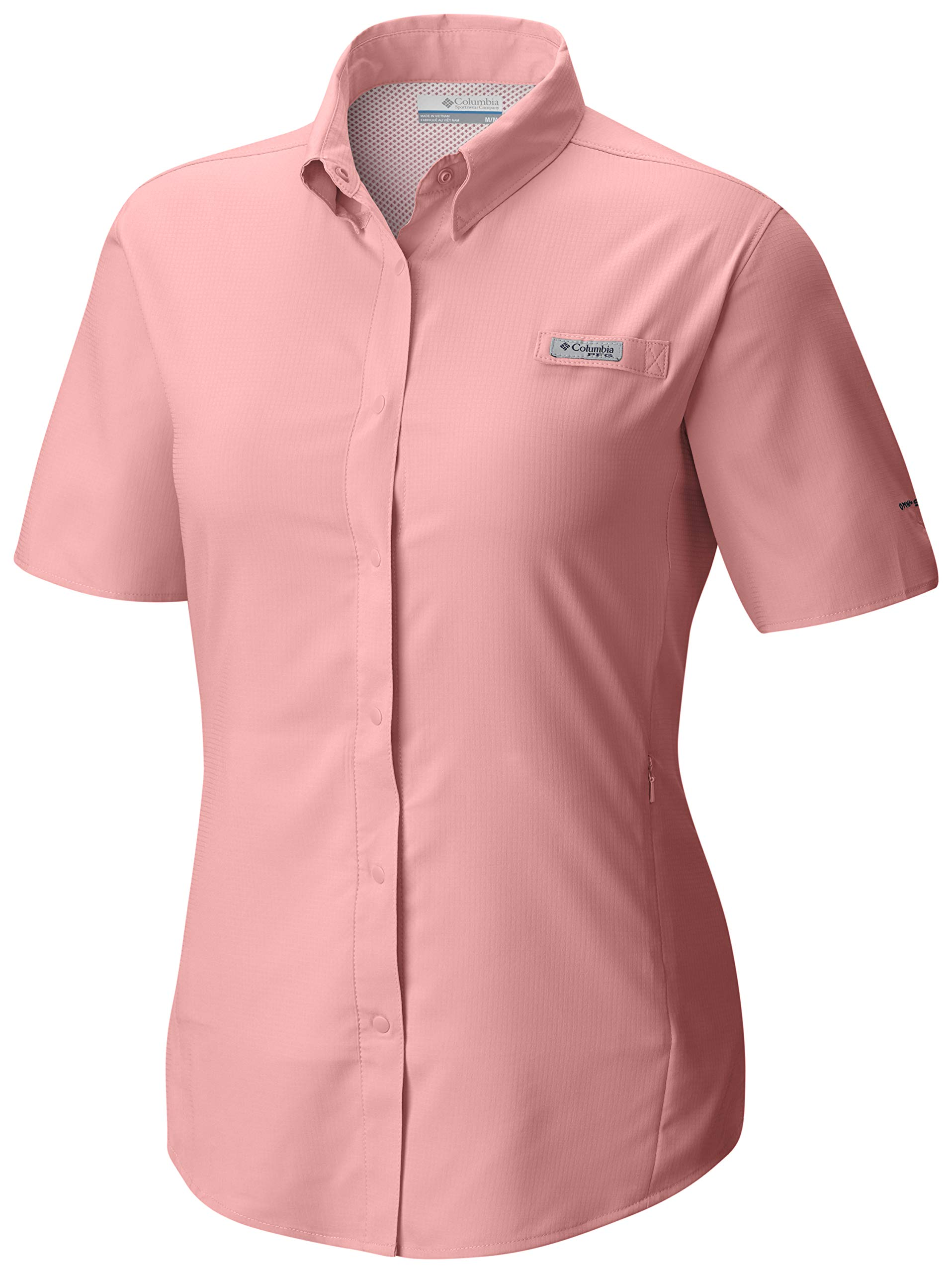 Columbia Standard Womens Tamiami II SS Shirt, Tiki Pink, X-Small by Columbia