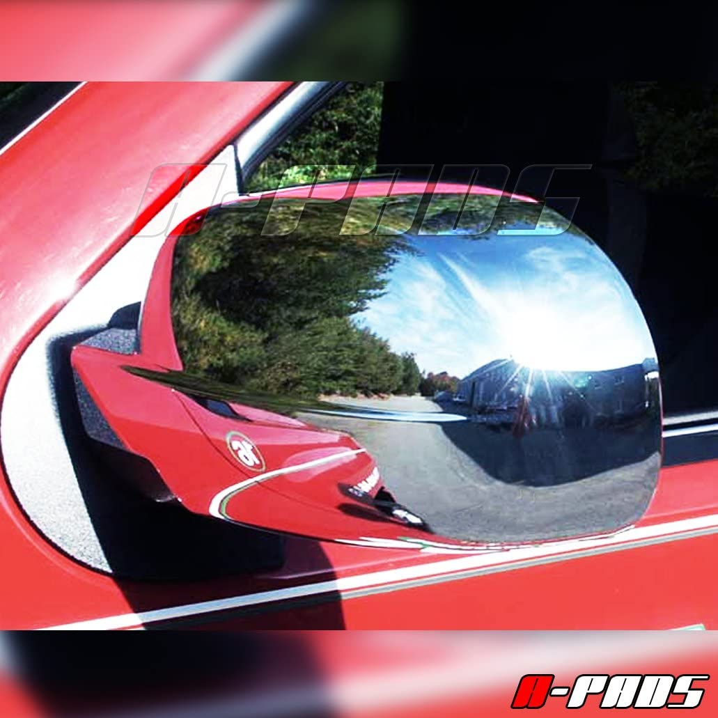 Yukon+XL 2007-2014 Sierra 1500+2500+3500 07-13 A-PADS 2 Chrome Mirror Covers for GMC Denali+XL 2007-2013 Full Chromed Mirrors