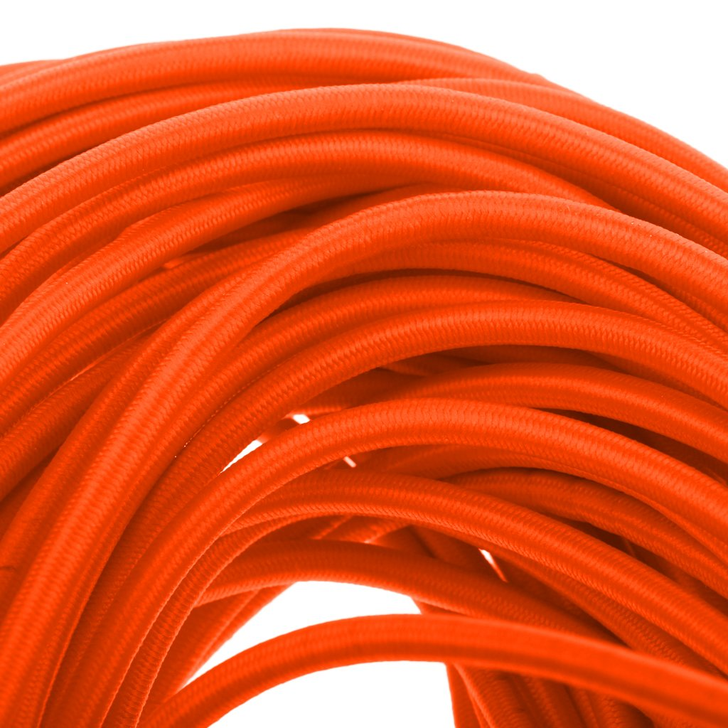 50m Homyl 6mm High Strength Orange Durable Strong Elastic Stretch Rubber Shock Cord Tie Down Marine Boat Caravan Rope 1m-50m