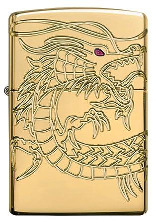 Dragones encendedor Zippo interior y exterior para mechero con mensaje personalizado personalizar grabado gratis permanente vida grabado en la parte ...