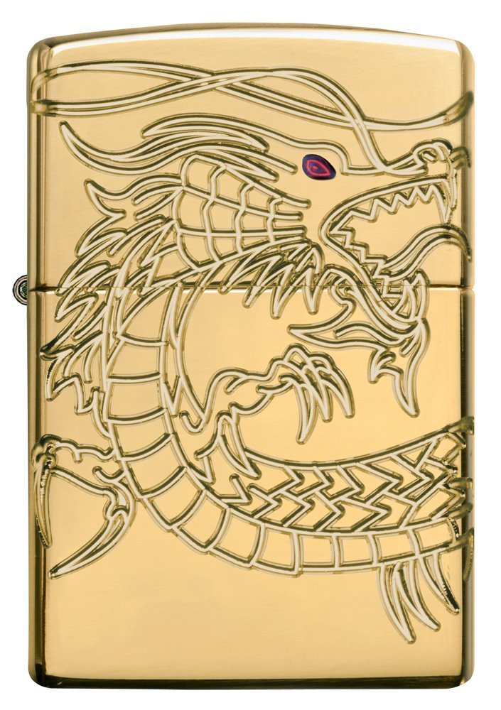 Dragon Armor Heavy Zippo Outdoor Indoor Windproof Lighter Free Custom Personalized Engraved Message Permanent Lifetime Engraving on Backside by Zippo (Image #1)