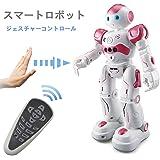 スマートラジコンロボット 子供のおもちゃ ジェスチャーコントロール 歌うことができる 踊ることができる 遠隔操作 (レッド) [並行輸入品]