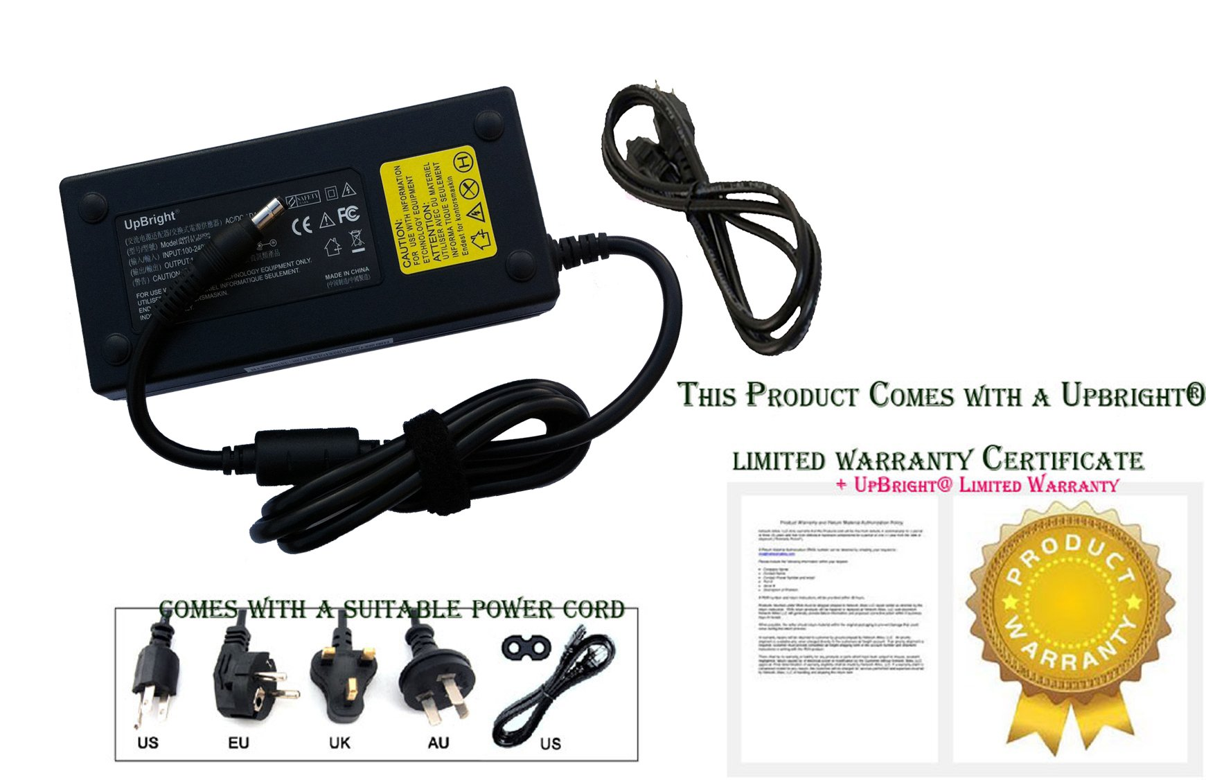 UpBright NEW AC / DC Adapter For HP Pavilion 23-q200 23-q214 T4A02AA T4A02AAR T4A02AA#ABA T4A02AAR#ABA 23-q255kr T0R44AA T0R44AA#ABA 23-q135kr P4M90AA 23'' All-in-One Laptop Notebook PC Charger