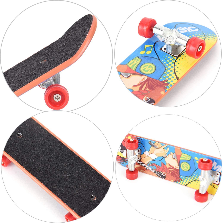 Mini Fingerboard, 6PCS Finger Skateboard Mini Finger Skate Tableros de Dedos Skatepark para Niños Juguete Regalo de Cumpleaños Favores de Fiesta ...