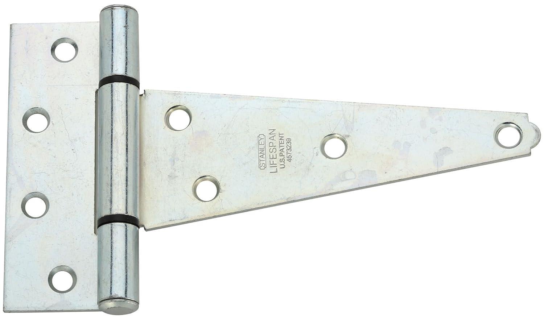 National Hardware B286 6 Zinc Plated Extra Heavy T Hinge