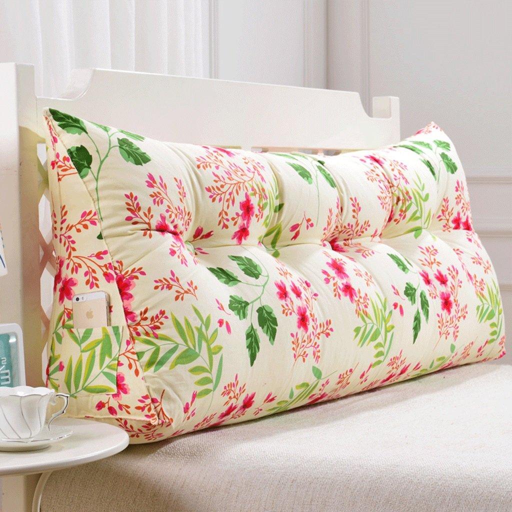 GXY Doppel Zurück Sofa Headboard Soft Pack Tatami Bett Kissen Lendenkissen Taille Kissen (Farbe : R, größe : 120cm)