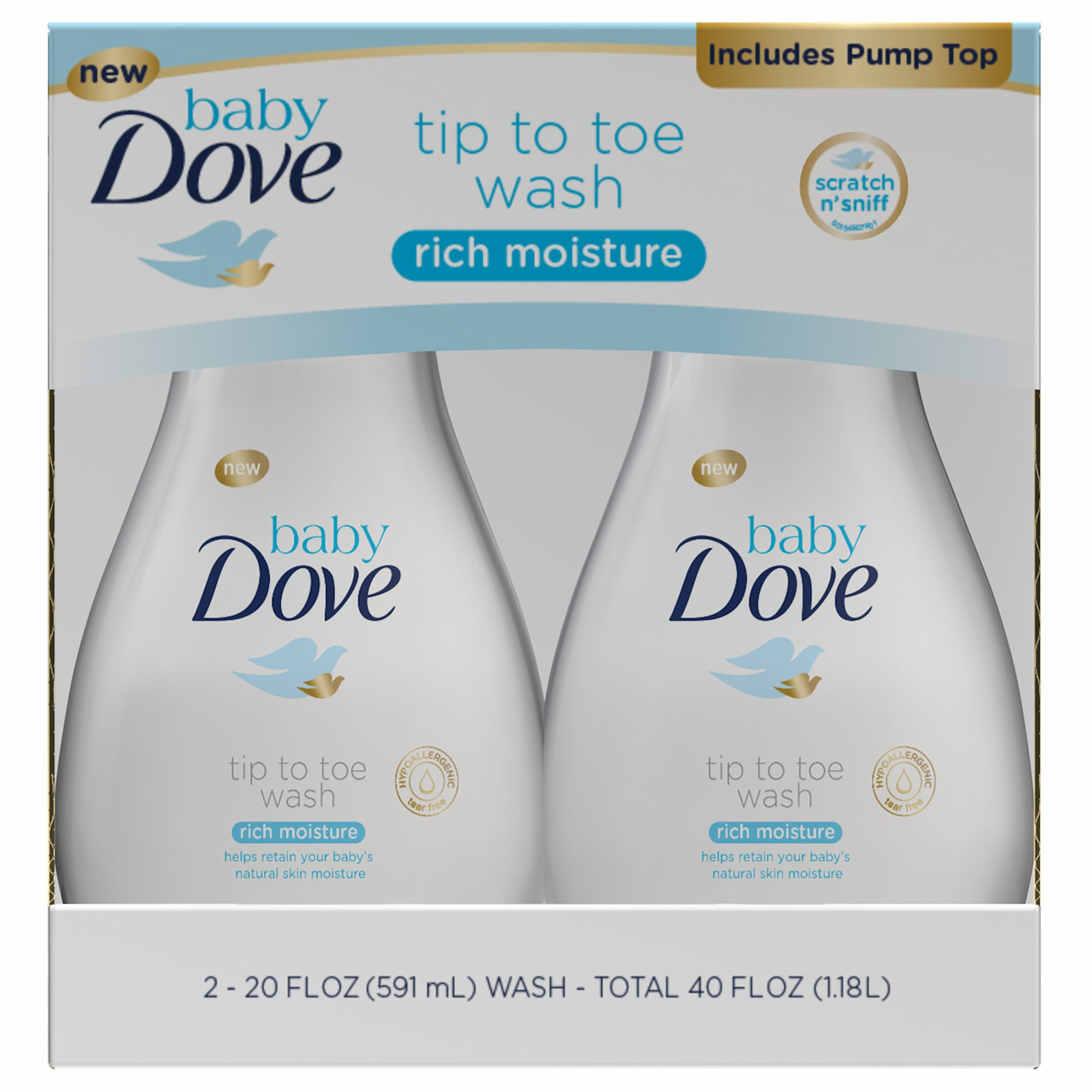 Product of Baby Dove Rich Moisture Tip to Toe Wash, 2 ct./20 oz. (baby bath care - Wholesale Price - Body Wash & Cleansers [Bulk Savings] by Product of Baby Dove