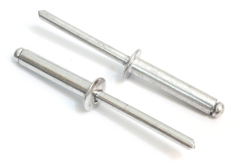 by Bolt Dropper. 100pc Aluminum .37-.5 Rivets 4-8 1//8 x 1//2 Inch, Gap