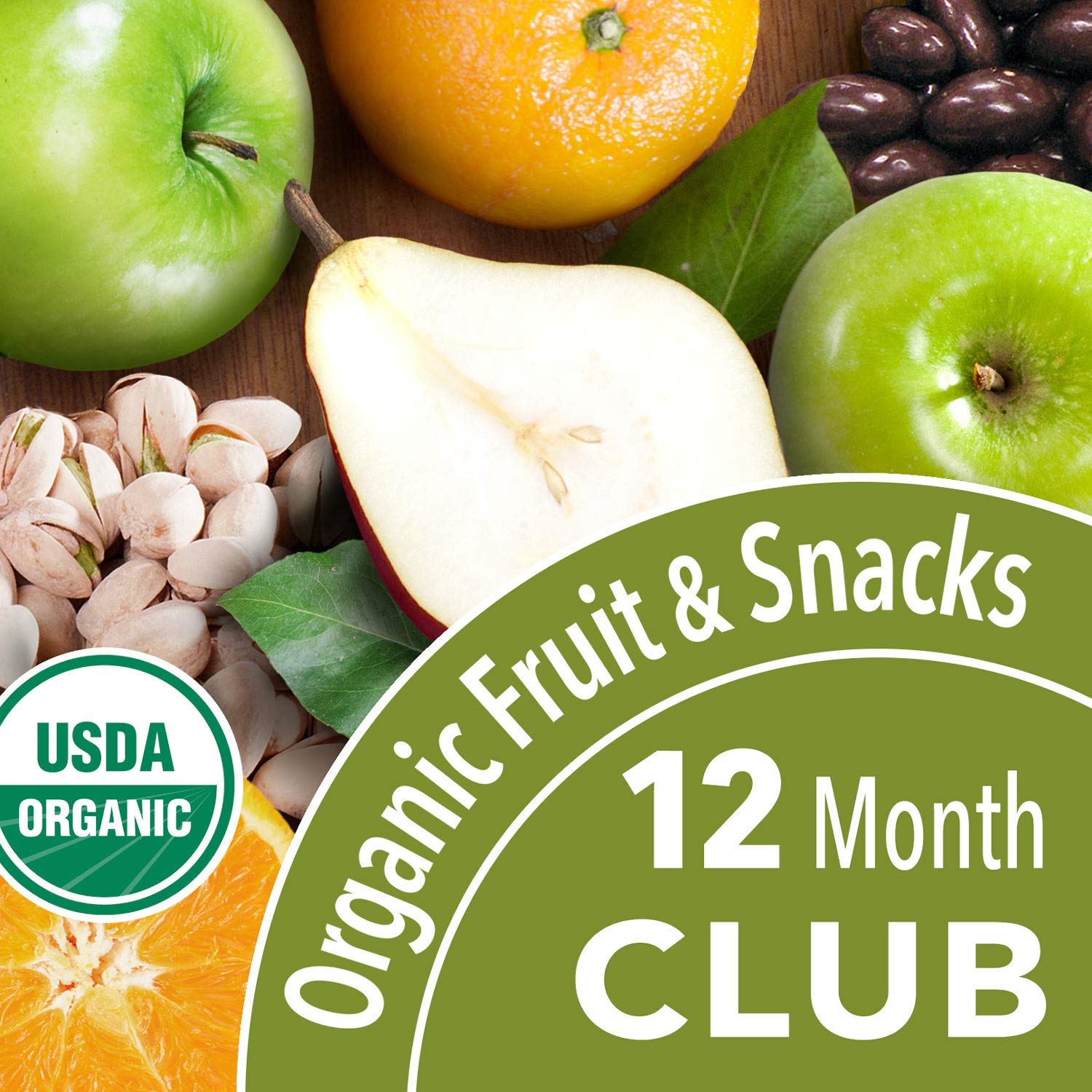 Organic Fruit and Snack Club - 12 Months (Choice of 3, 6, 9 or 12 Mos.)